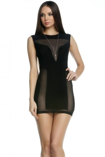 Shane Geometric Mesh Illusion Dress