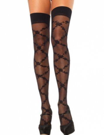 Sheer Floral Stockings