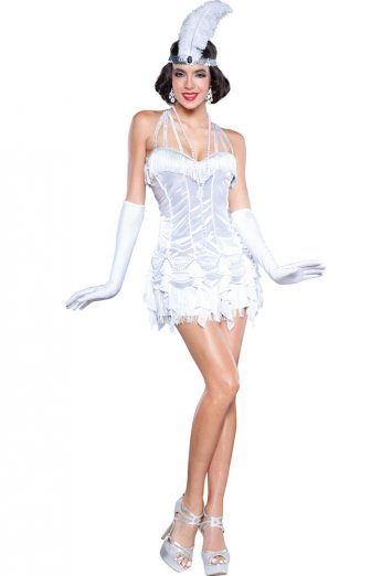Silver Flapper Adult Costume