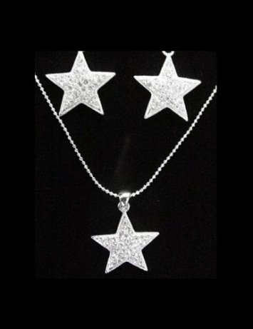 Star Necklace & Earrings Set
