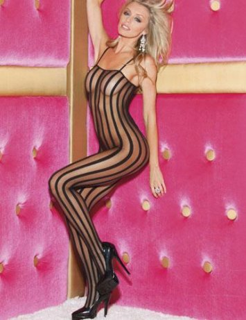Stripe Bodystocking