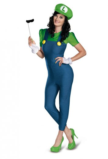 Super Mario Bros. - Deluxe Luigi Female Adult Costume