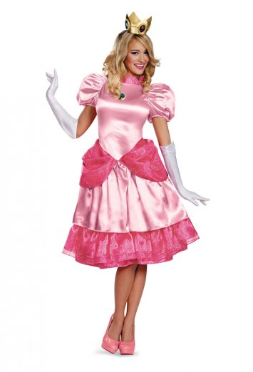 Super Mario Bros. - Deluxe Princess Peach Adult Costume