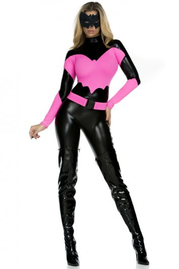 The Pink Knight Superhero Catsuit Costume