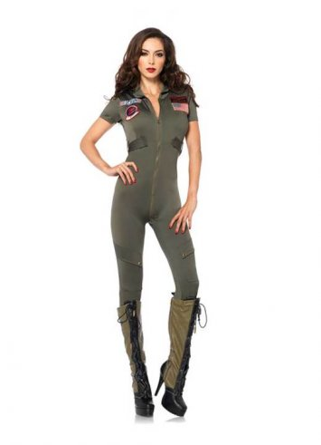 Top Gun Women Flight Suit Costume