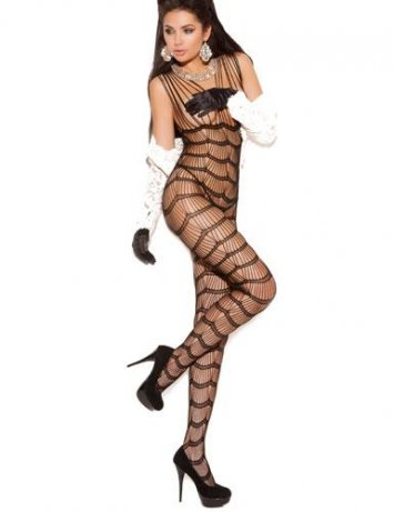 Vertical Striped Bodystocking