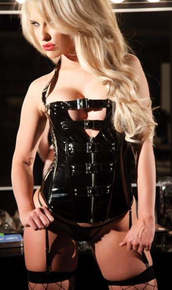 Vinyl Corset with Buckle