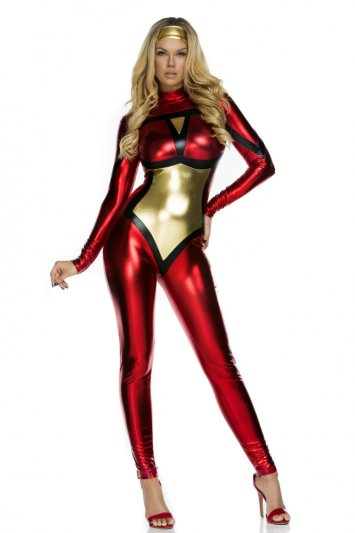 Webbed Super Hero Sexy Catsuit Costume