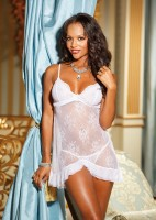 White Irresistible Floral Lace Chemise